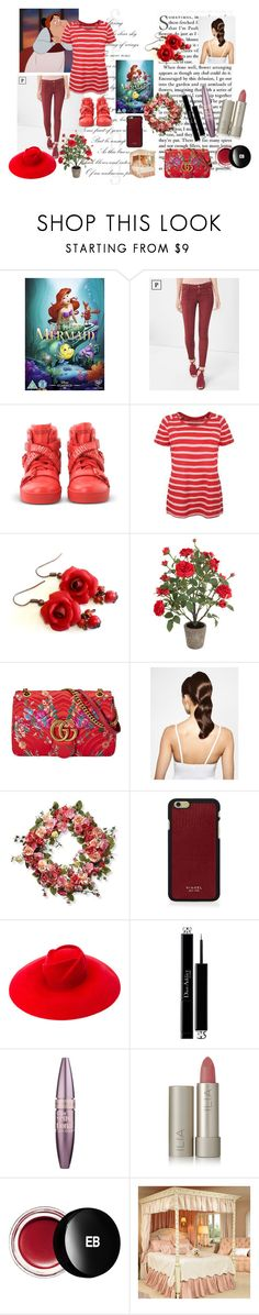 """""""Example set for 'French dames!' contest/Carlotta"""" by sarah-m-smith ❤ liked on Polyvore featuring White House Black Market, Moschino, Sia, Gucci, Hershesons, National Tree Company, Vianel, Christian Dior, Maybelline and Ilia"""