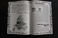 "fanzine metal by ged ""dead church #9"""