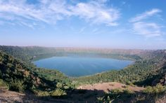 Lonar Meteorite Crater, Deccan Plateau, India: For many years, Lonar crater was thought to be volcanic in origin, due to its location in a basalt field made from volcanic rock from 65 million years ago.