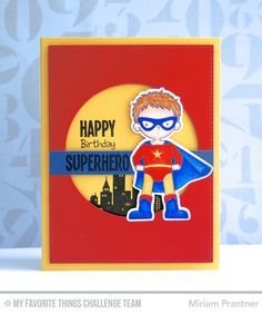 Super Boy, You're Super, Circle STAX Die-namics, Super Boy Die-namics - Miriam Prantner  #mftstamps