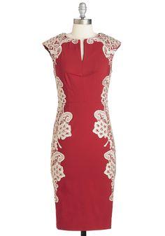 Lakeside Libations Dress in Crimson, @ModCloth