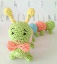 Large caterpillar model with amigurumi antenna and foot Cactus Amigurumi, Mini Amigurumi, Amigurumi Animals, Amigurumi Toys, Amigurumi Patterns, Crochet Patterns, Crochet Geek, Crochet Toys, Amigurumi For Beginners