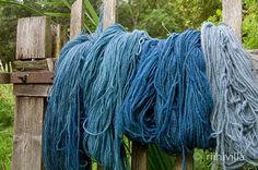 Success with indigo fermentation vat Beautiful blue shades from Riihivilla