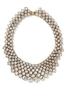 The perfect statement necklace from Banana Republic, Crystal Collar Necklace