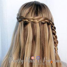 Pretty Hair is Fun: 4 Four Strand Waterfall Braid