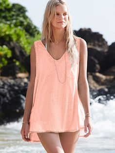 V-neck Cover-up Tank Easy Tees