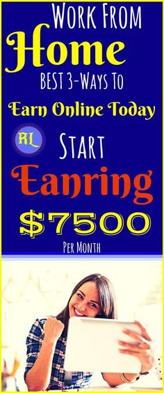 Legit work-from-home jobs to Make money online for beginners. The best ways to earn passive income online from home. Work from home and earn $7500 per month with genuine methods. Click the pin to see how >>>