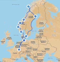 Road Trip Moto, Road Trip Europe, Helsingor, Business Trip Packing, Business Travel, Voyage Suede, Voyage En Camping-car, Europe Holidays, Voyage Europe