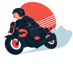 Retro Biker  by ChristobalMikhovski on @creativemarket