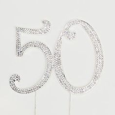 50 Years Old Cake Topper Silver