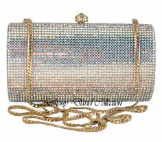 ce7bbae82d2 Gold Aurora Borealis Swarovski Crystal Evening Bag Bridal Handbags, Aurora  Borealis, Clutch Purse,