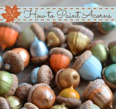 How to Paint Acorns - Fall Crafts for Preschoolers #diy #crafts #preschoolers