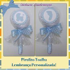 Pirulito Toalha , lembrança personalizada! Vários temas e cores! Ideal como Lembrancinhas de chá de bebê, chá de fraldas e Maternidade! R$ 5,70