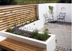 Contemporary space inspiration for wind block area for fire pit