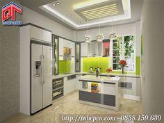 Tủ bếp chung cư kết hợp đảo bếp sang trọng
