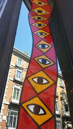 Ricardo Cavolo. Hotel Urban Madrid.  #ArteUrbano #StreetArt #Arterecord 2014 https://twitter.com/arterecord