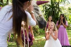 d45ab9dcdf85e Make-A-Wish Foundation makes a little girl's dream of meeting a unicorn come