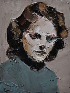 Clara Adolphs; Oil, Painting Painting Lessons, Painting Art, Figure Painting, Palette Knife Painting, Selling Art Online, Portraits, Portrait Art, Portrait Paintings, Artist Art