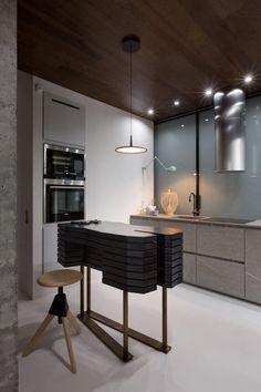 Industrial Apartment designed by Olga Akulova, inspired by fashion brand KENZO