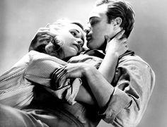 Marlon Brando and Eva Marie Saint in a publicity photo for On The Waterfront (Elia Kazan, 1954)