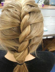 roped french braid