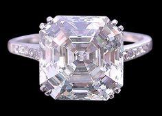 2.51 ct. diamonds asscher cut wedding ring gold white