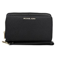 MICHAEL Michael Kors Adele Large Smartphone Wristlet Black >>> See this great product.