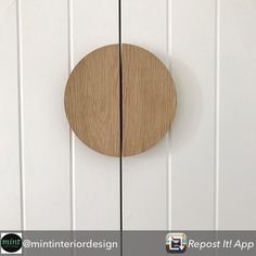 Half moon handles in US oak. Wardrobe Door Handles, Wardrobe Doors, Built In Wardrobe, Oak Cupboard, Cupboard Handles, Kitchen Handles, Wood Drawer Pulls, Wood Drawers, Timber Door