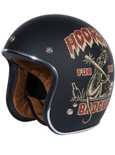 """""""Dirty Rat"""" 3/4 Biker Helmet by Torc Racing (Black) #InkedShop #InkedMag #Dirty #Rat #Biker #Helmet #Black"""
