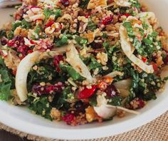Roasted Garlic Kale & Quinoa Salad With Cranberries Recipe | Food Republic