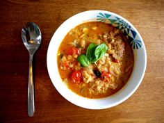 Garlic Bread Soup via Oh Dear Drea