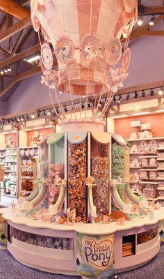 my little pony, downtown disney, orlando FL Boutique Interior, Cafeteria Retro, Candy Store Design, Downtown Disney Orlando, Vintage My Little Pony, Disney Springs, Candy Shop, Toy Store, Disney Vacations