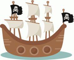 Pirate Ship SVG scrapbook cut file cute clipart clip art files for silhouette cricut pazzles free svgs free svg cuts cute cut files Kids Pirate Ship, Pirate Talk, Pirate Life, Beach Clipart, Cute Clipart, Pirate Quilt, Pirate Clip Art, Ship Drawing, Pirate Party