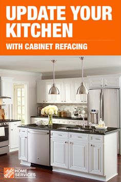 Bring your kitchen back to life with cabinet refacing. If you like the layout of your kitchen, but not the look of your cabinets, cabinet refacing may be a good option for you. Refacing changes the look of your cabinets in less time than a kitchen remodel and for less money. Click through to learn more about this mini-makeover for your kitchen.