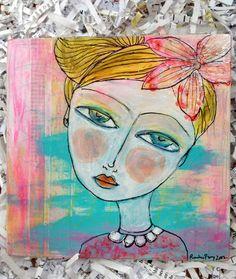 Original Mixed Media Art by Rachelle Panagarry