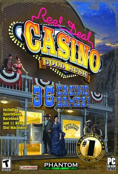PC Game - Reel Deal Casino Gold Rush from Phantom EFX. Gold Rush is is the first LIVE-FEED Sports Book casino game, with scores and stats fed real-time from the Vegas casinos. Once MMO players log in to the sports book in the Phantom online casino, y Baseball