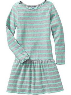 Girls Striped Jersey Dresses | Old Navy