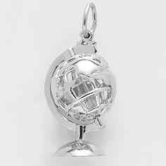 Spinning Globe Charm (The globe actually spins!) Other movable charms at Charm n Jewelry.