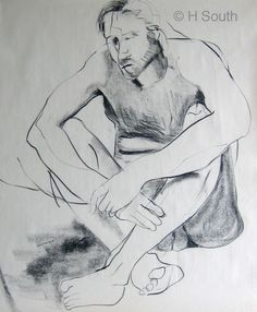 Figure Drawing With Line and Contour Drawing Lessons, Drawing Poses, Life Drawing, Drawing Techniques, Drawing Tips, Male Figure Drawing, Figure Drawing Reference, Hand Reference, Anatomy Reference
