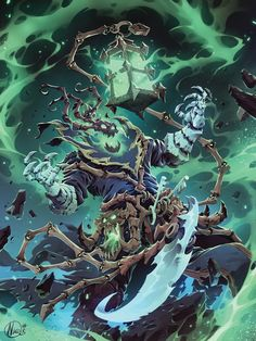 Thresh - League of Legends Lol League Of Legends, League Of Legends Characters, Age Of Mythology, Fanart, Wallpaper Lol, Thresh Lol, League Champs, Baron Samedi, Character Art
