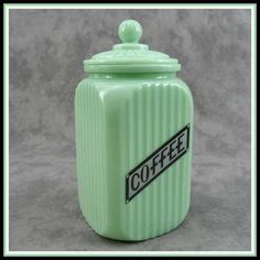 jadeite coffee canister!!!