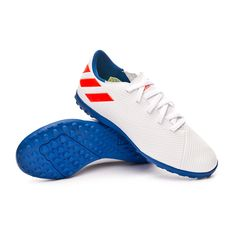 befac603 Zapatilla adidas Nemeziz Messi 19.4 Turf Niño White-Solar red-Football blue  - Tienda