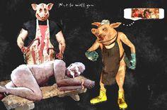 Auf der Schweinewelt ist die Evolution anders verlaufen - Nice to mett you - Hier gilt saftiger, fetter Menschenbraten als kulinarisches Highlight