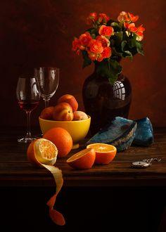 Peaches and oranges - Obst Dutch Still Life, Still Life Art, Fruit Photography, Still Life Photography, Still Life Images, Fruit Painting, Belle Photo, Food Art, Amazing Art