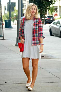 Bright on a Budget: Plaid and Stripes for Fall