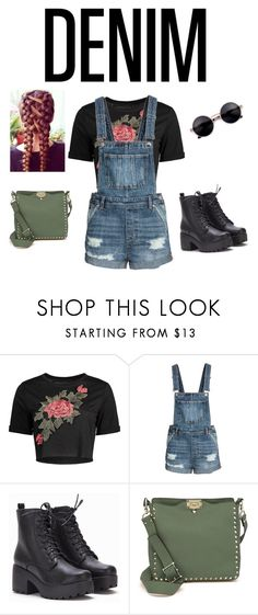 """""""Denim Boho"""" by covergirl-123 ❤ liked on Polyvore featuring Valentino"""