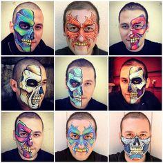 Skull face painting