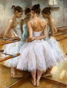 Ballet and paint. Good combination.