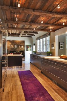 These 8 Inspirations Turn Your Kitchen Into a Designer Kitchen     Unique kitchen with wooden ceiling can apply to your room and get trendy  and stylish decor for the interior  read the latest design ideas and view  extensive