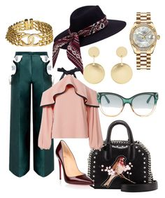 """""""Too Sheeq"""" by nedixon on Polyvore featuring STELLA McCARTNEY, Alexis, Christian Louboutin, Rolex, Chanel, Accessorize and Gucci"""